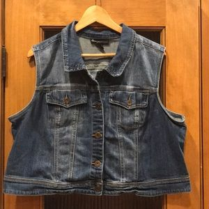 Lane Bryant short denim vest